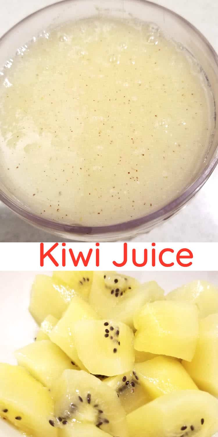 kiwi juice with kiwifruits