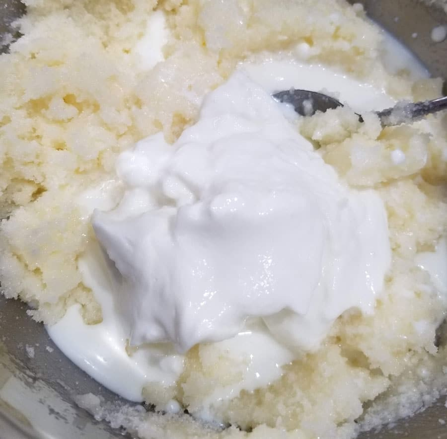 butter, sugar, yogurt