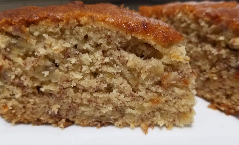 eggless banana yogurt cake