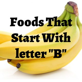 foods that start with letter b