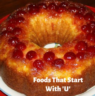 foods that start with letter u