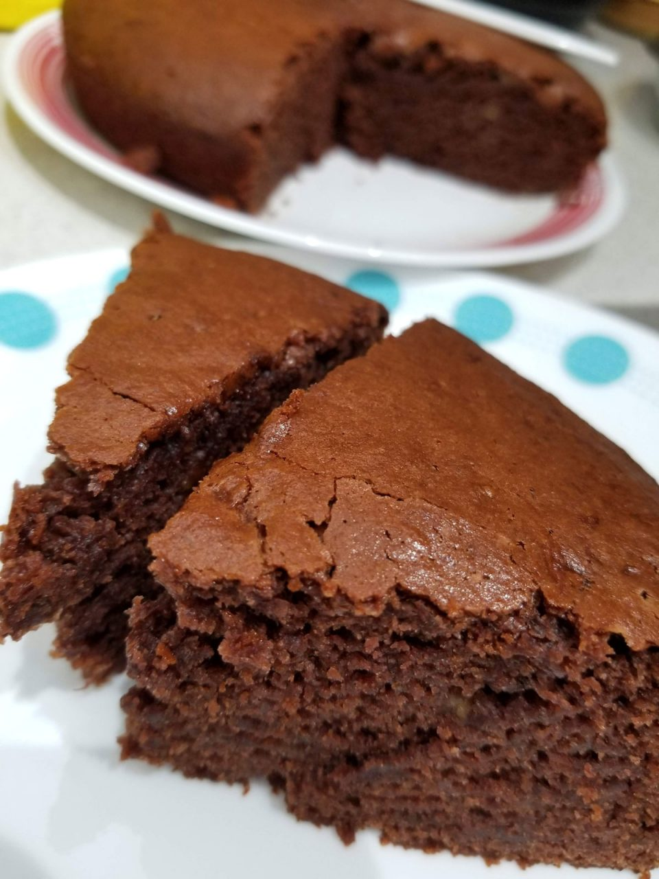 moist chocolate banana cake eggless