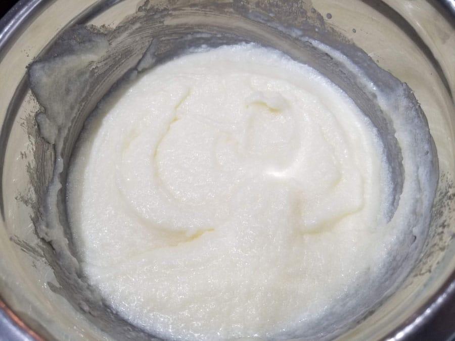 yogurt butter sugar mixture