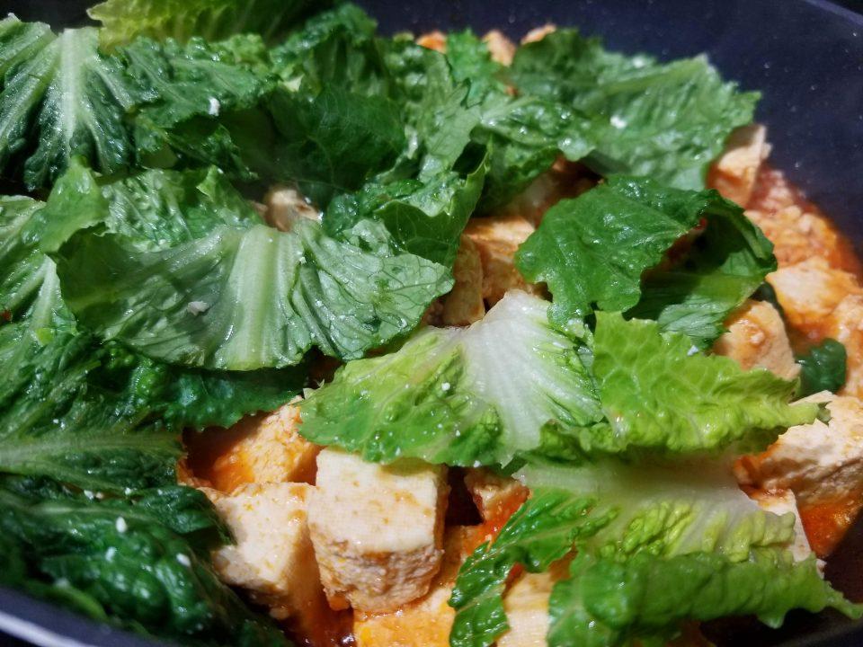 scrambled tofu lettuce
