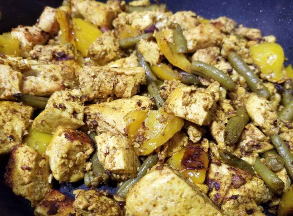 tofu scramble with vegetables bell peppers