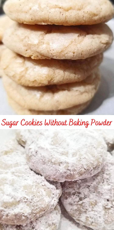 sugar cookies without baking powder or baking soda