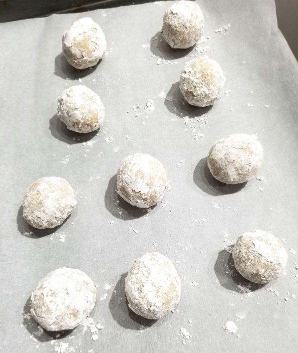 cookies rolled in sugar mixture