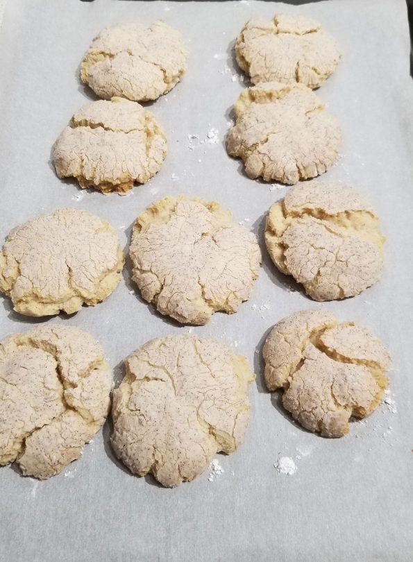 crinkle cookies vanilla cinnamon