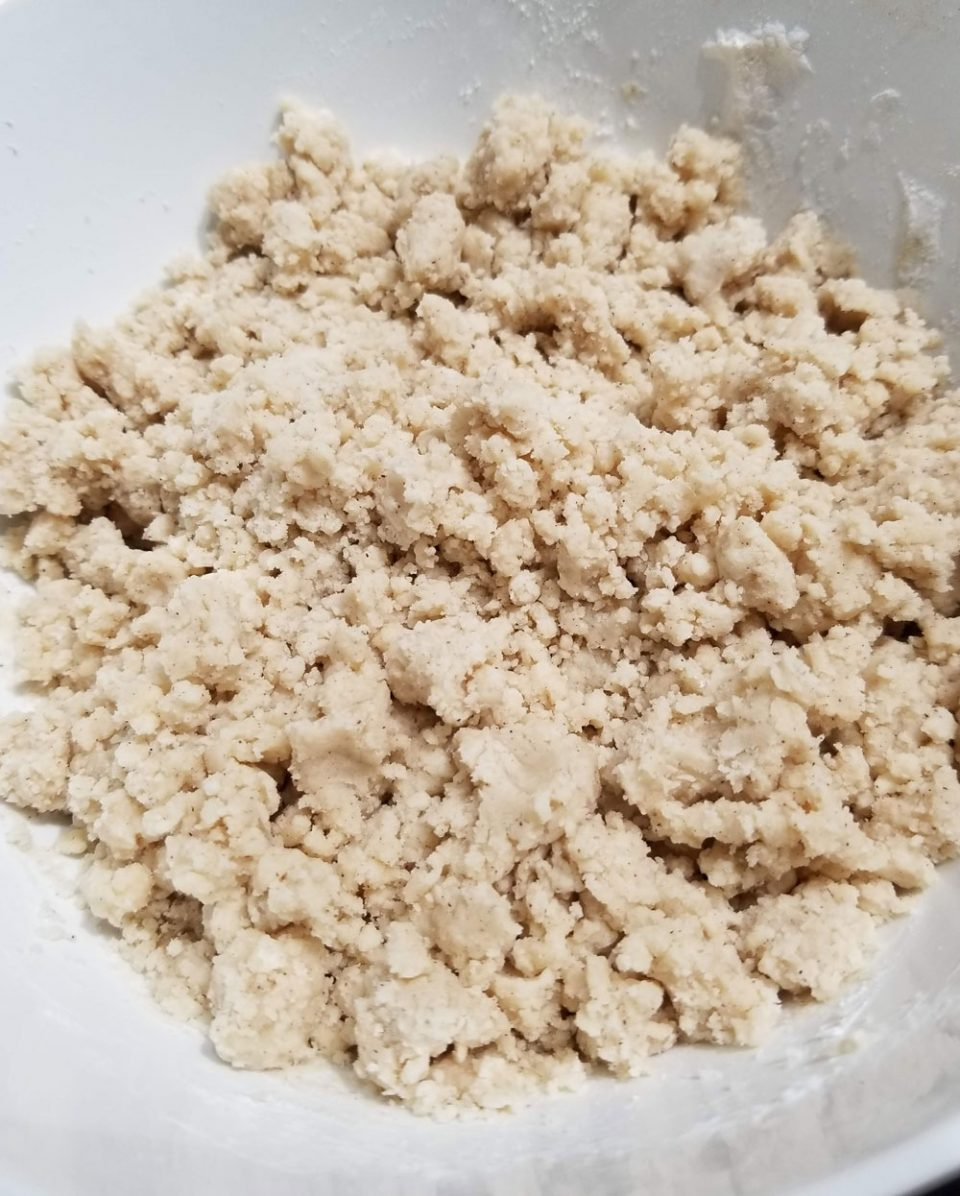 flour butter sugar mixture to make dough