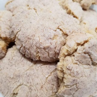 vanilla crinkle cookies with cinnamon