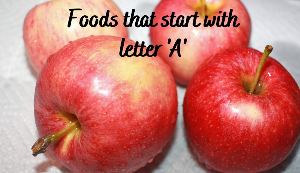 list of food names that begin with letter 'a' in english alphabet