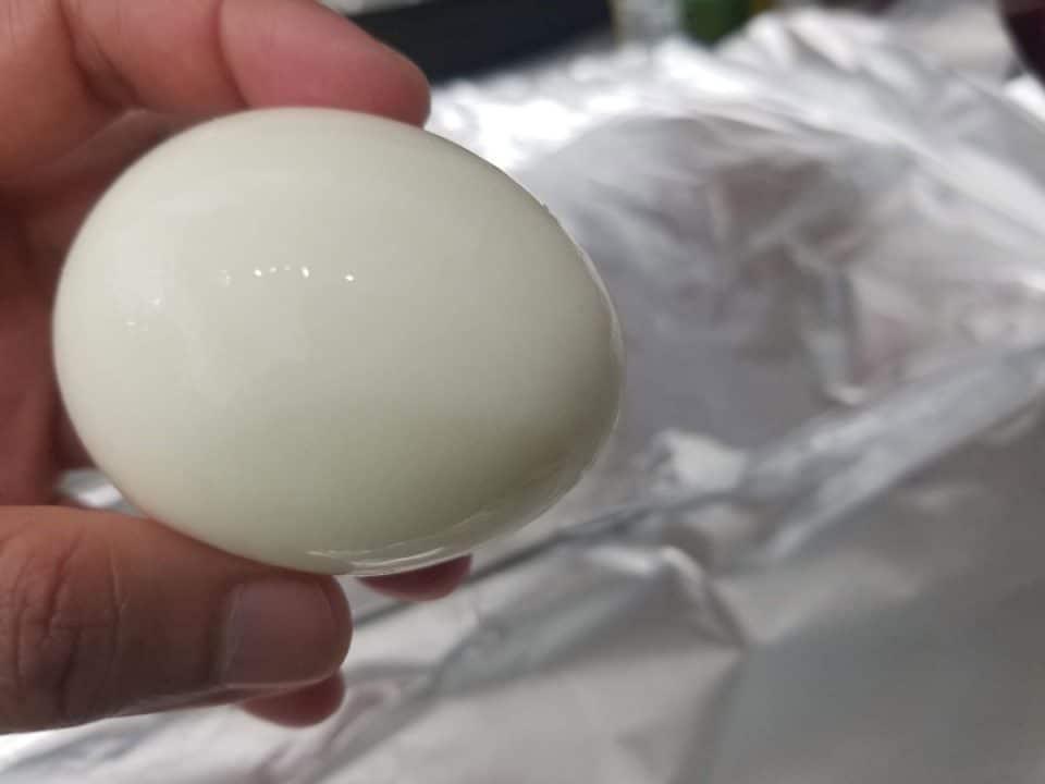 peeled boiled egg