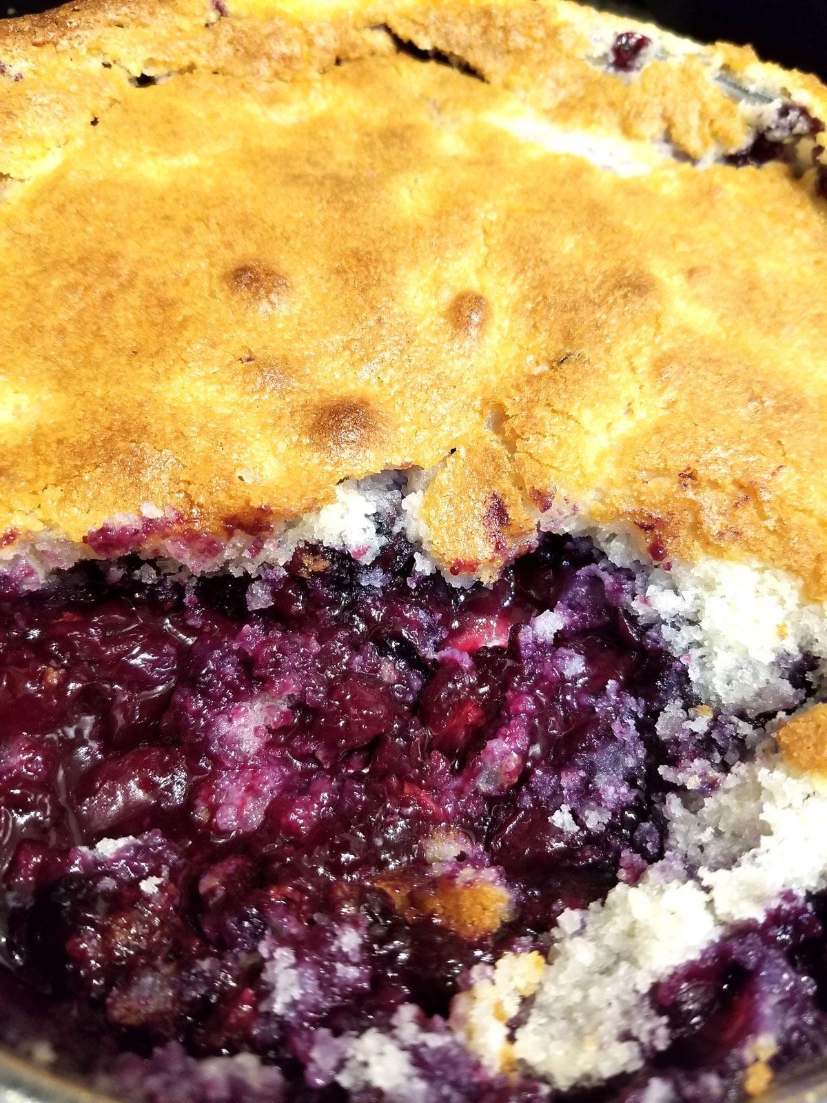 blueberry cobbler from scratch