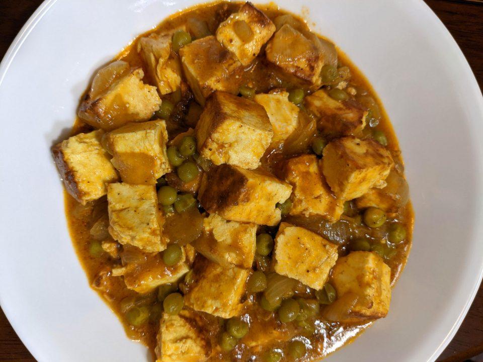 perfect matar paneer curry