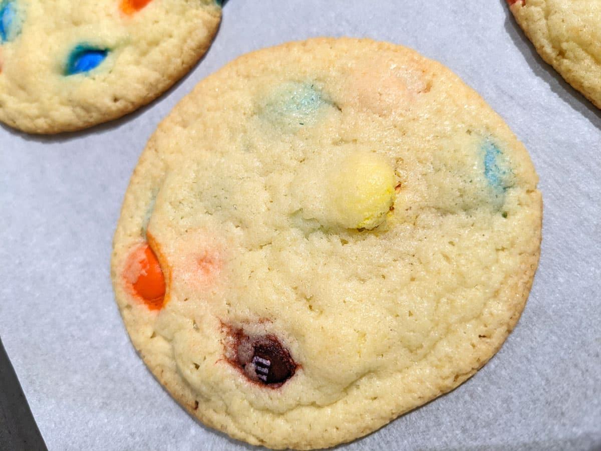 baked bisquick m&m cookies