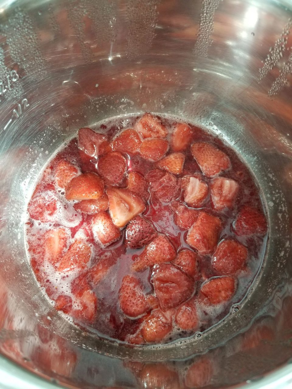 cooked strawberries
