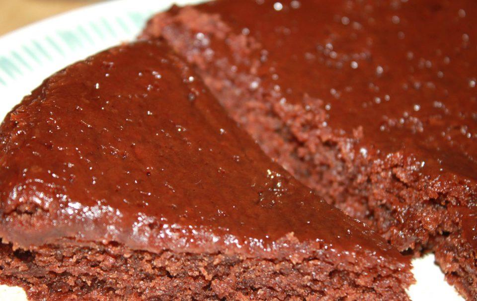 fallen chocolate brownie cake