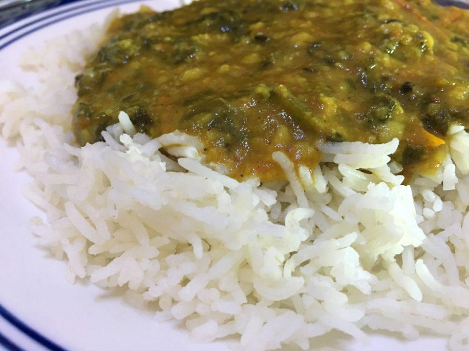 masala spinach dal palak curry