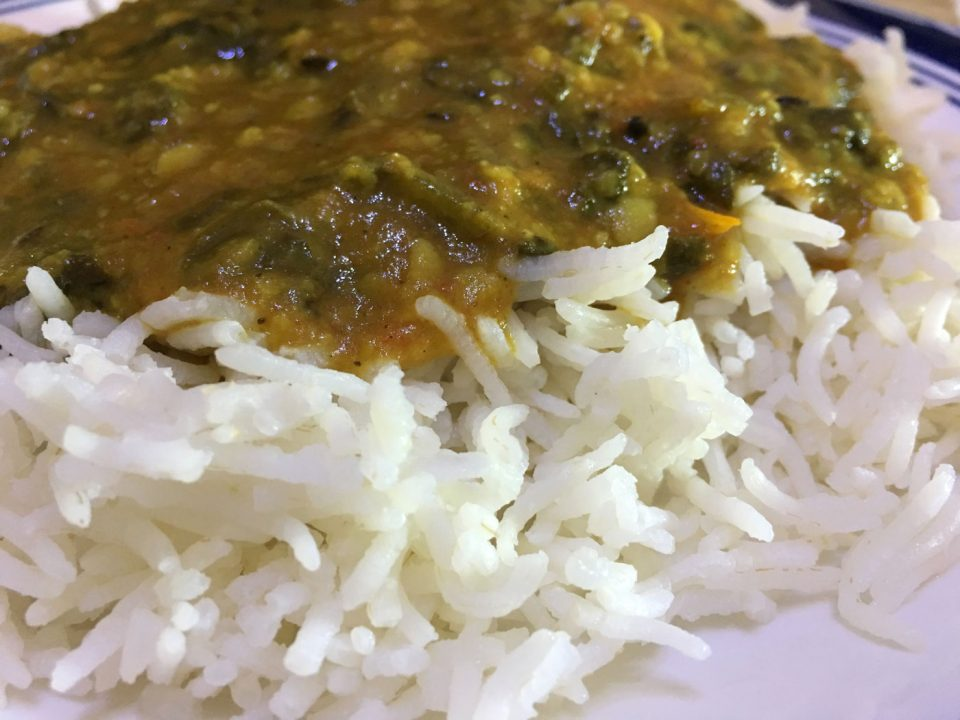 masala spinach dal curry