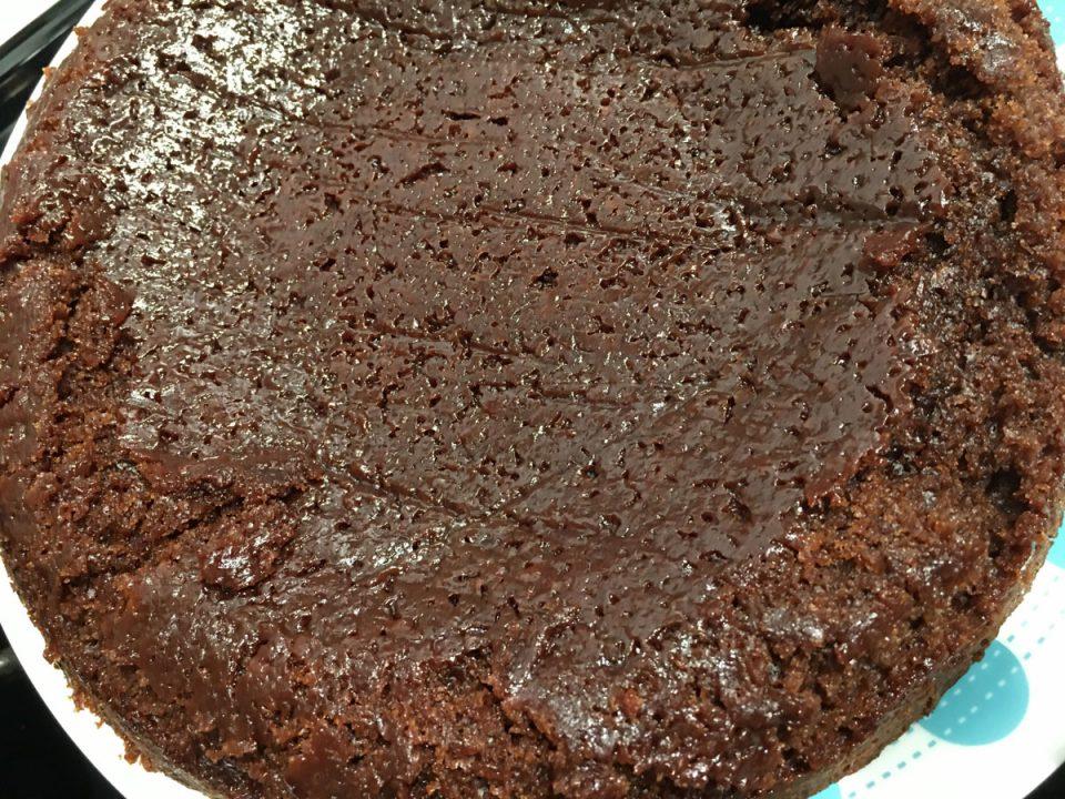 moist fallen chocolate brownie cake