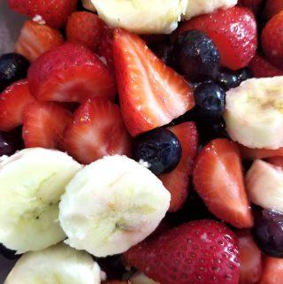 berry banana summer fruit salad
