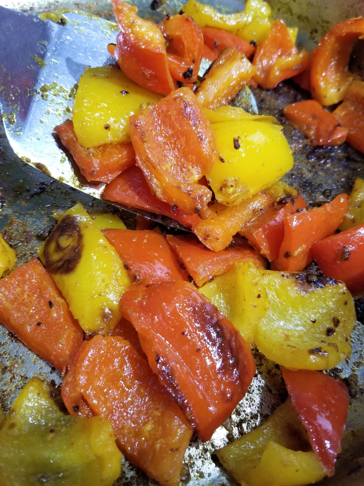 colorful vegetable stir fry with bell peppers