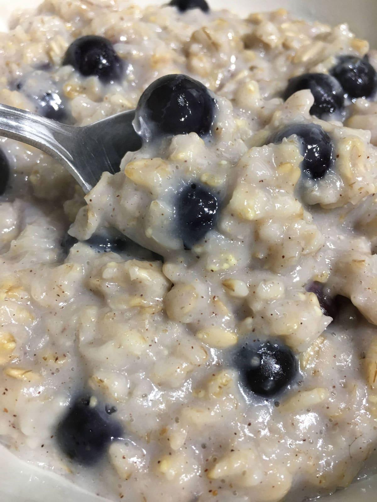 blueberry oatmeal for breakfast