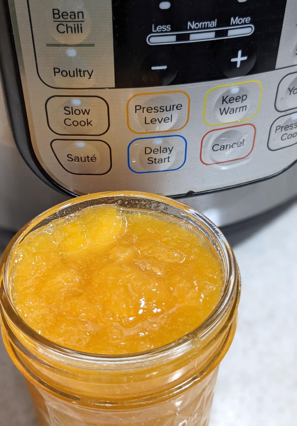 peach compote in instant pot