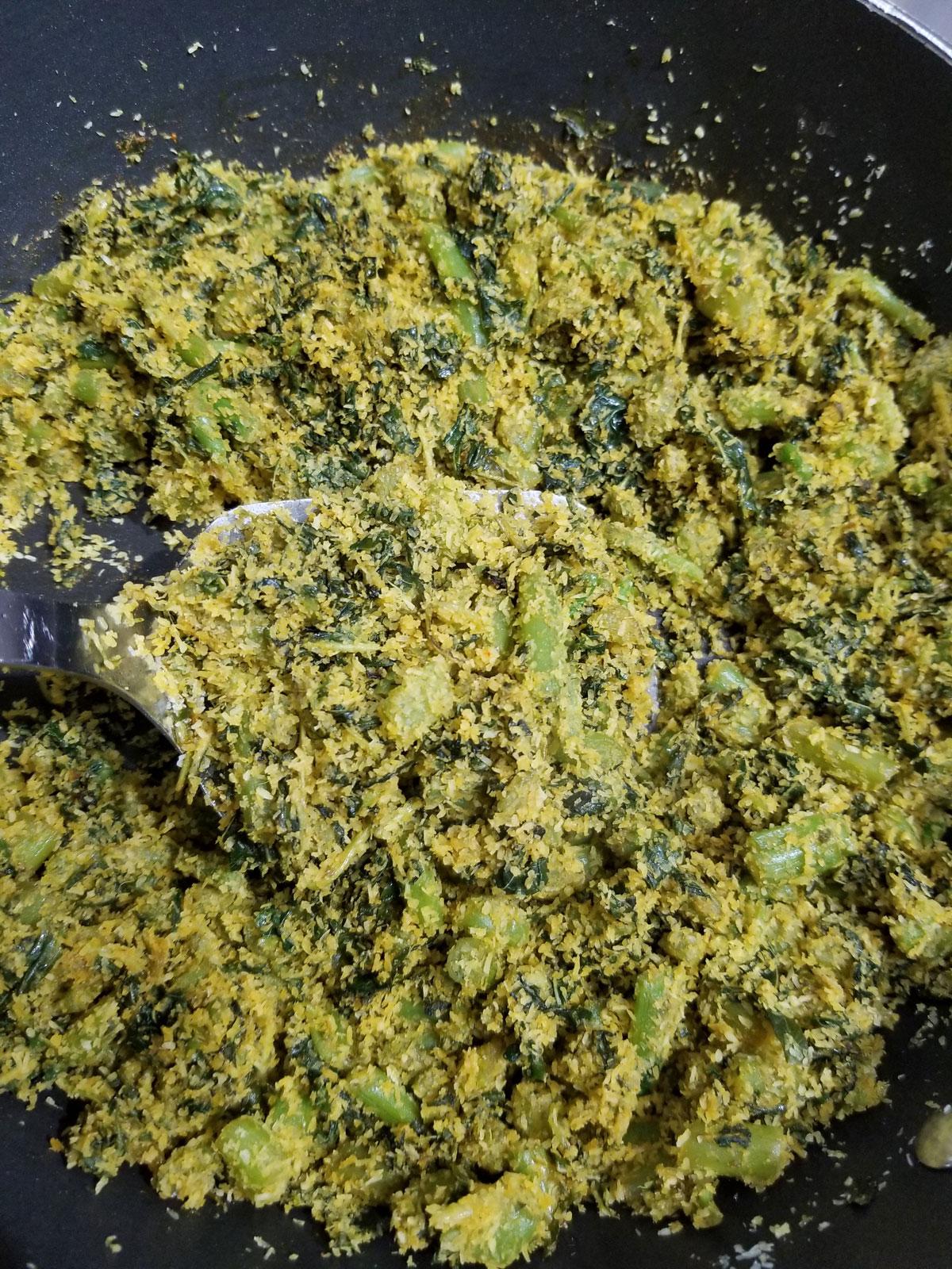 amaranth leaves stir fry